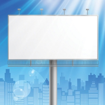 outdoor advertising billboard model 03 vector