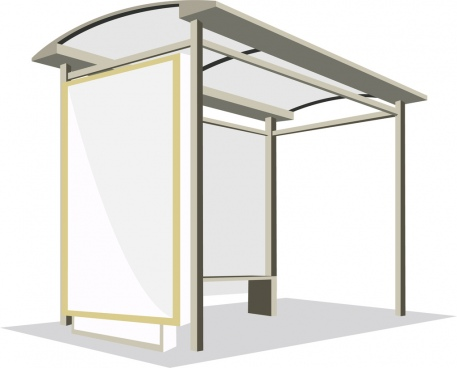 outdoor advertising panel covered bus station design