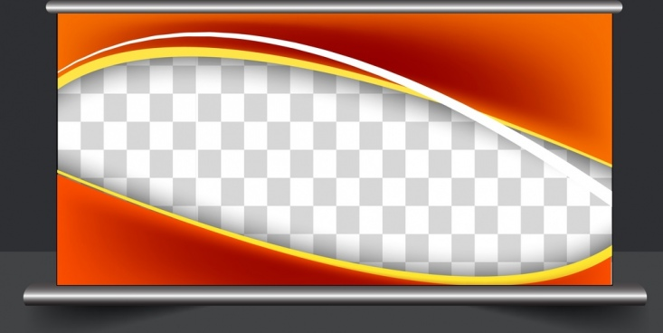 outdoor advertising panel curves checkered background design