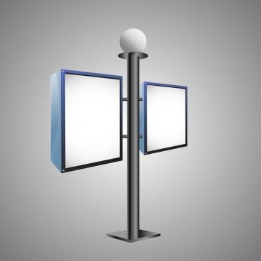 outdoor advertising panel street light style design