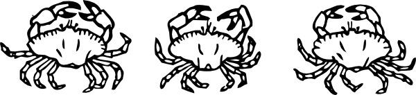 Outline Crabs clip art