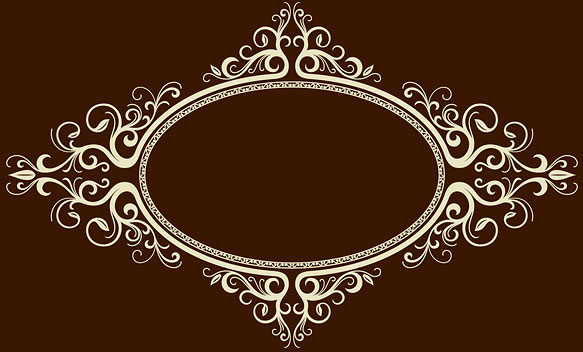 oval frame ornate vector