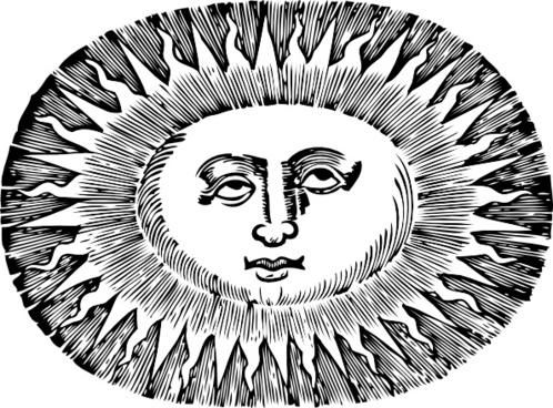 Oval Sun clip art