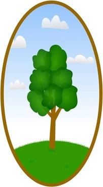 Oval Tree Landscape 2