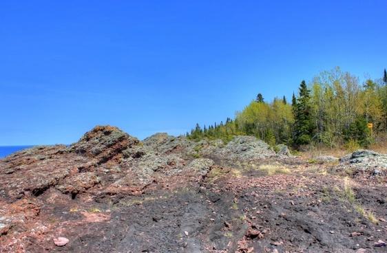 over the rocks in the upper peninsula michigan