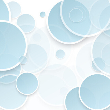 overlapping circle abstract background