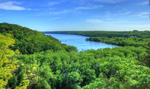 overlook at the st croix at kinnickinnic state park wisconsin