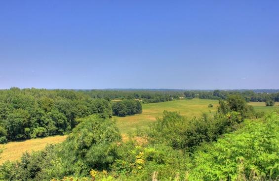 overlook landscape at cahokia mounds illinois