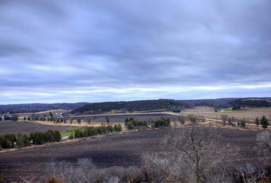 overlook on farmland close to black earth wisconsin