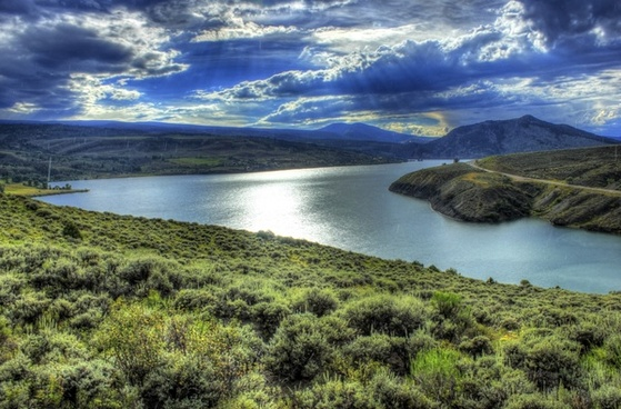overlook on the lake in colorado