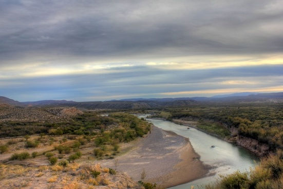 overlooking the rio grande at big bend national park texas