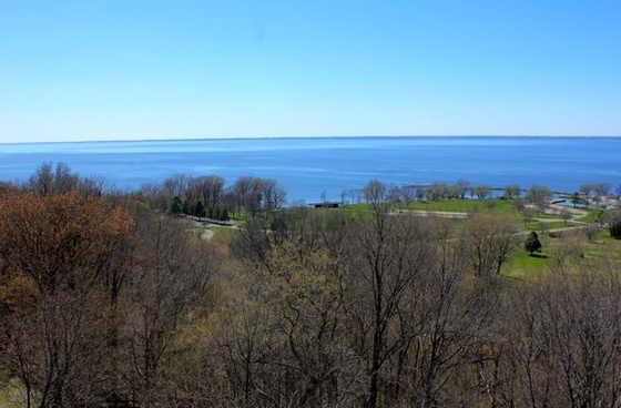 overlooking winnebago at high cliff state park wisconsin