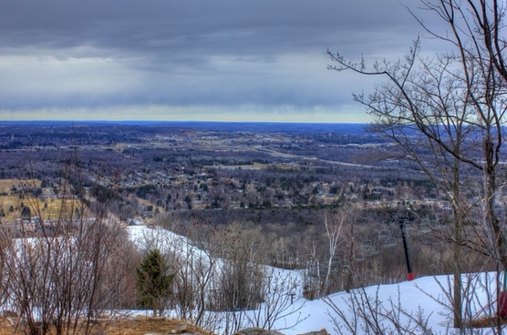 overview on the mountain at rib mountain state park wisconsin