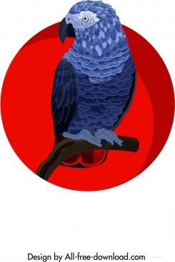 owl bird painting dark classical design cartoon character