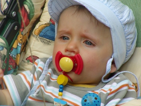 pacifier baby carriage small child