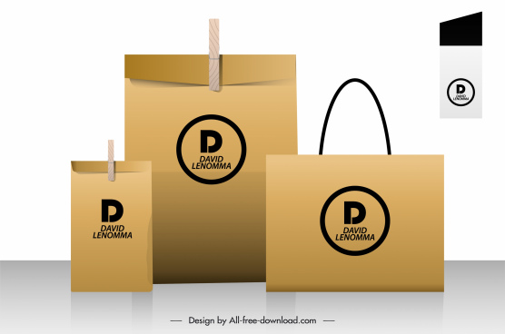 package bag advertising banner shiny colored design