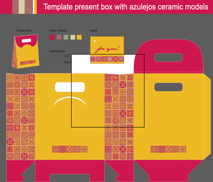 package present box models vector graphics