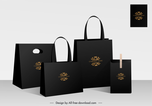 packaging bags advertising banner elegant black design
