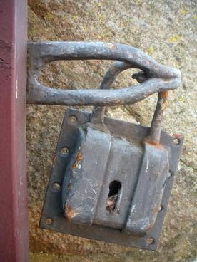 padlock large old