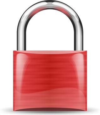padlock red