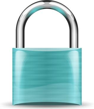 padlock turquoise
