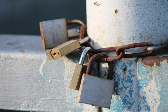 padlocks love iron