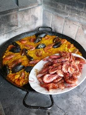 paella spain seafood