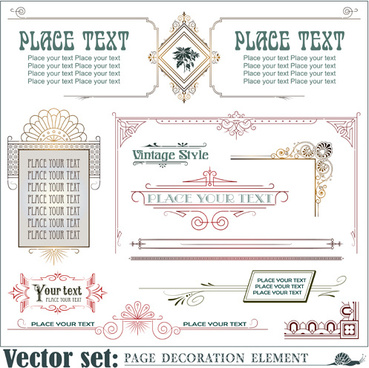 page decoration borders and frames vector