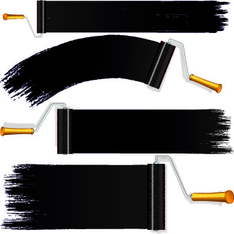 paint brushes tools vector