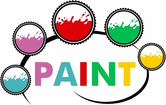 paint color samples icons flat circles isolation