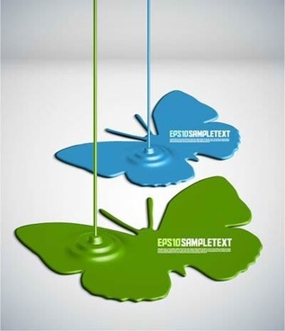 paint drip shape design vector