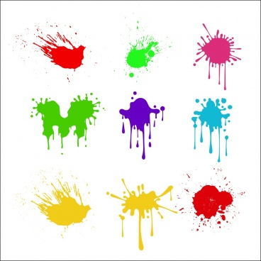 paint mark icons colorful grunge decoration