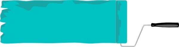 Paint Roller Banner clip art