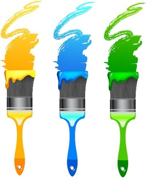 Paintbrush Palette Free Vector Download 223 For