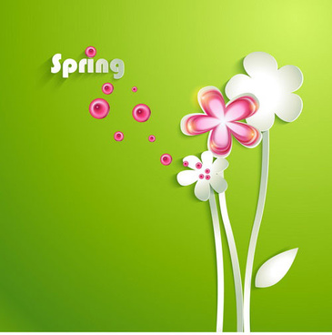 painted cartoon flowers vector art