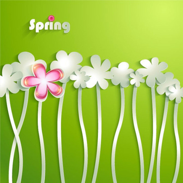 painted cartoon flowers vector graphics