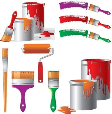 painting theme vector