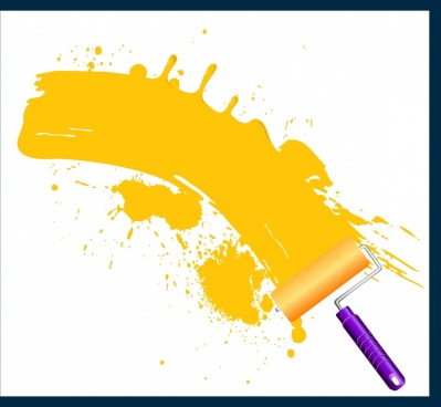 painting work drawing yellow grunge decor brush icon