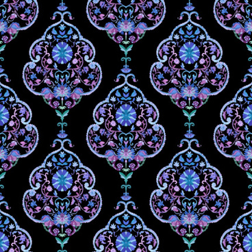 paisley with flower vector seamless patterns
