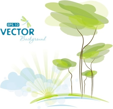 pale cartoon background 02 vector