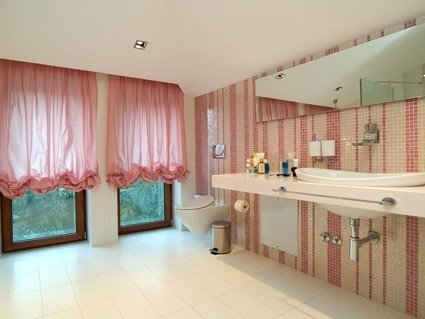 pale pink style stylish bathroom picture