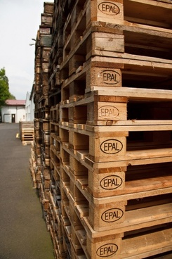 pallets and warehouse