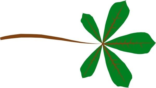 Palmate Leaf Lobed clip art