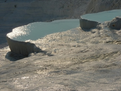 pamukkale lime sinter terrace calcium