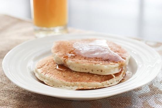 pancake breakfast with orange juice