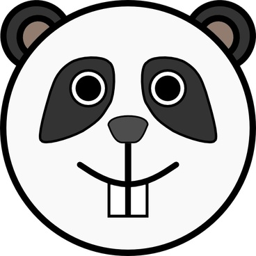 Panda Rounded Face clip art