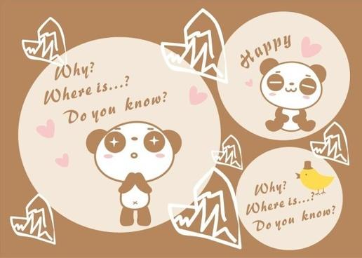 Panda vector background