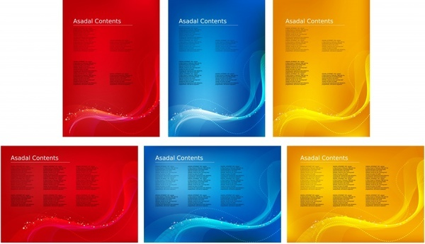decorative background templates modern colored abstract decor