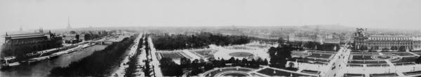 panorama of paris france 1909