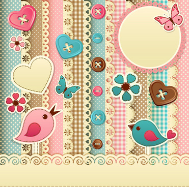 paper art baby backgrounds vector